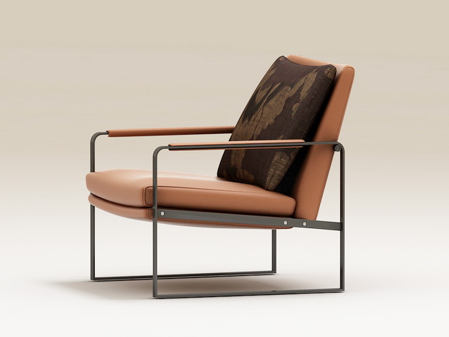 Industrial-Style Accent Chair 3d model