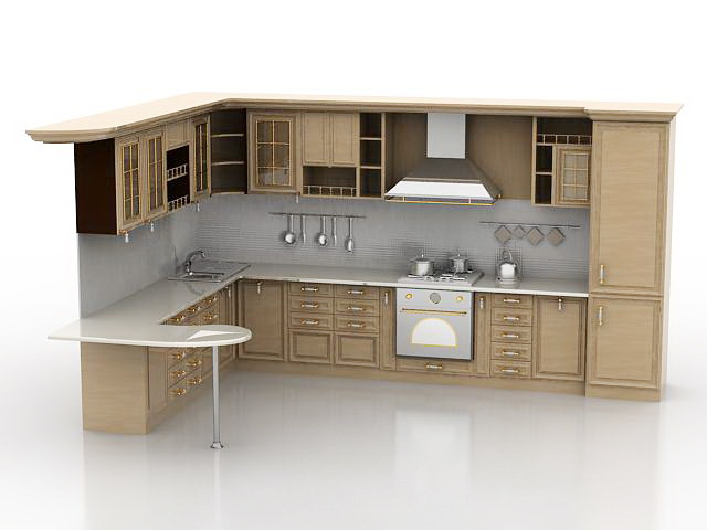 Kitchen cabinet 3d model free download - cadnav com