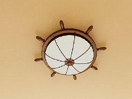 Helm Ceiling Light Fixture 3d model