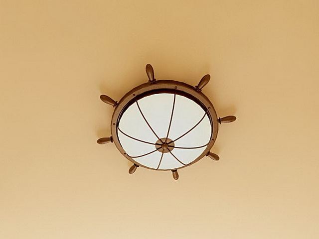 Helm Ceiling Light Fixture 3d model