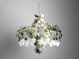 Grape Cluster Chandelier 3d model