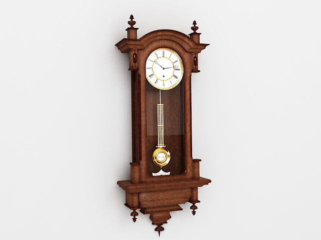 Antique Wall Clock 3d rendering