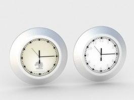 Small Desk Clocks 3d model