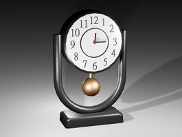 Retro Desk Clock 3d model