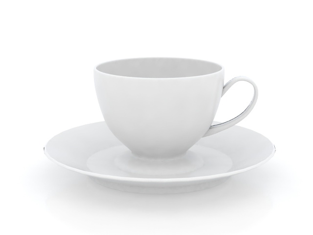 Cups and Saucers 3d model free download - cadnav com