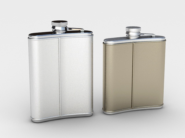 Stainless Steel Hip Flask 3d model