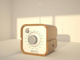 Small Desk Radio 3d model