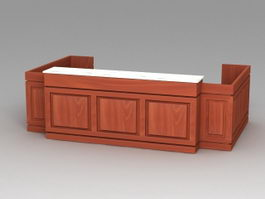 Office Reception Furniture 3d model