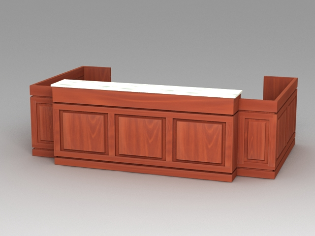 Office Reception Furniture 3d model