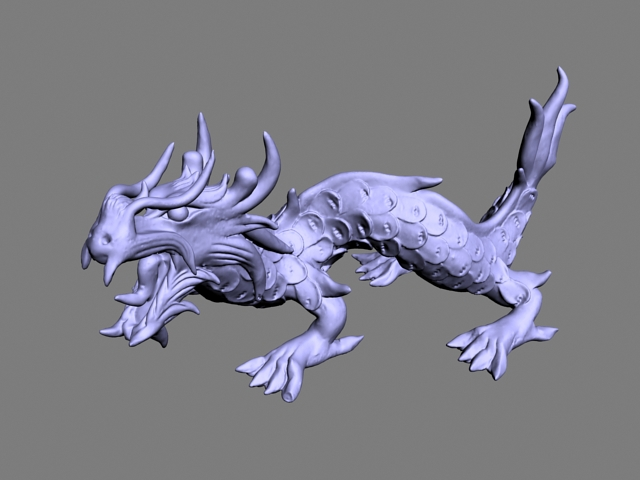 Chinese Dragon Sculpture 3d model