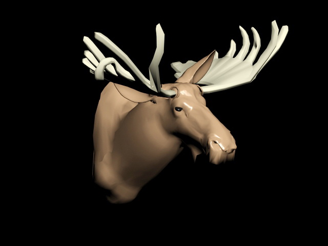 Deer Head Sculpture 3d model