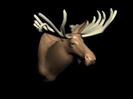 Deer Head Sculpture 3d model
