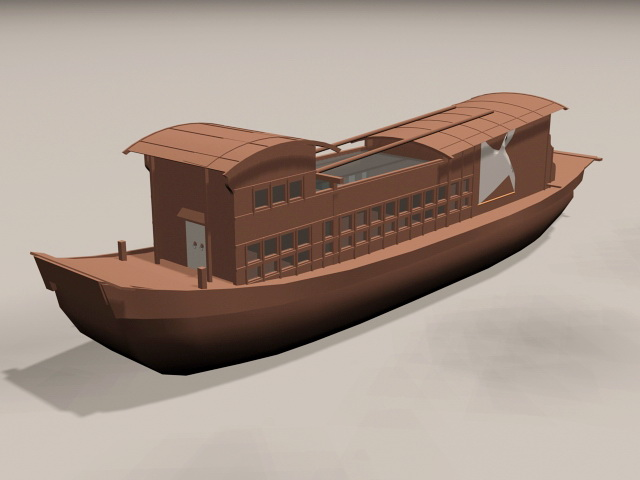 Traditional Chinese Boat 3d model