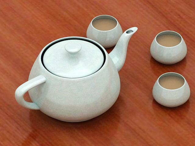 Korean Tea Set 3d model