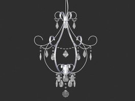 Small Living Room Chandelier 3d model
