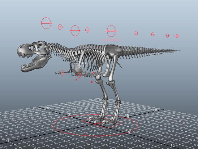 T-Rex Skeleton Rigged 3d model