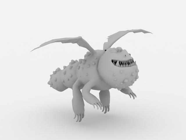 Cute Chibi Dragon 3d model
