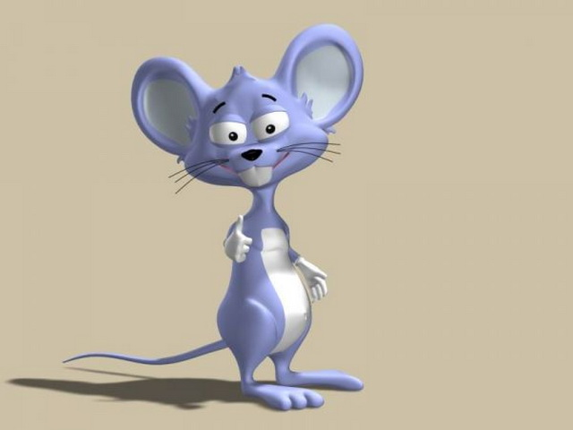 Cute Cartoon Mouse 3d model