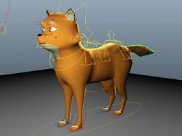 Rigged Fox 3d model