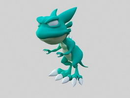 Cute Tyrannosaurus Rex Cartoon 3d model