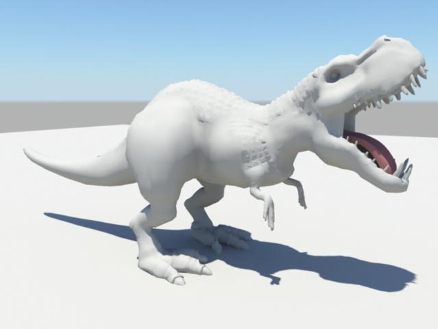 Dinosaur Animation Rig 3d model