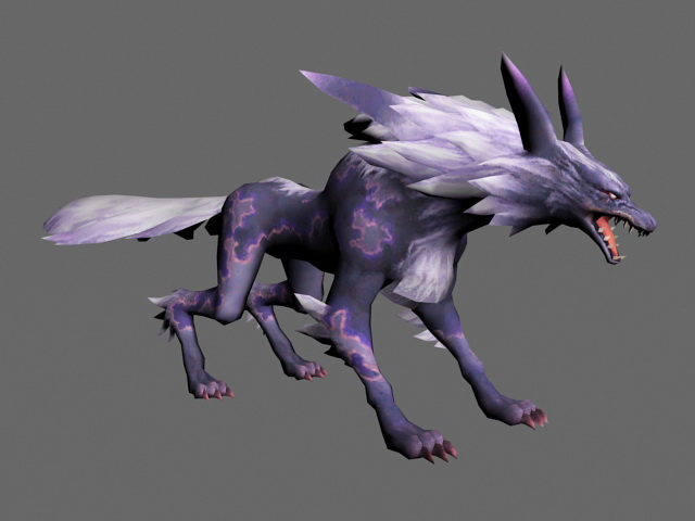 Mystic Wolf 3d model