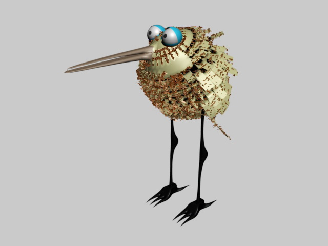 Small Bird 3d rendering