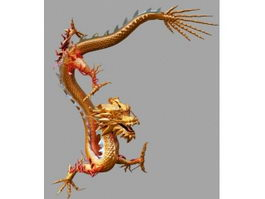 Chinese Yellow Dragon 3d model