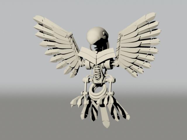 Mechanical Bird 3d model