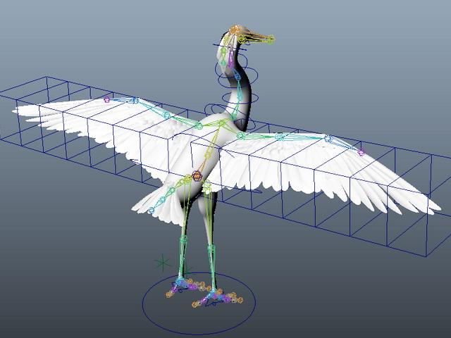 White Swan Rig 3d model