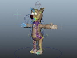 Rigged Cartoon Bear 3d model