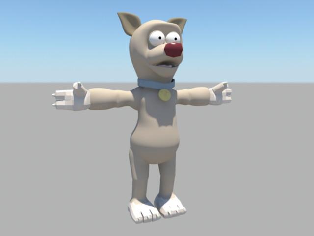 Rigged Cartoon Bear 3d model