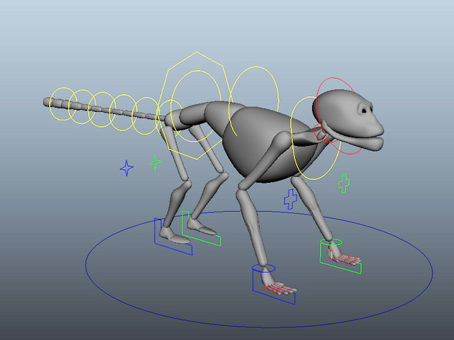 Monkey Rigging 3d model Maya files free download - modeling 44014 on