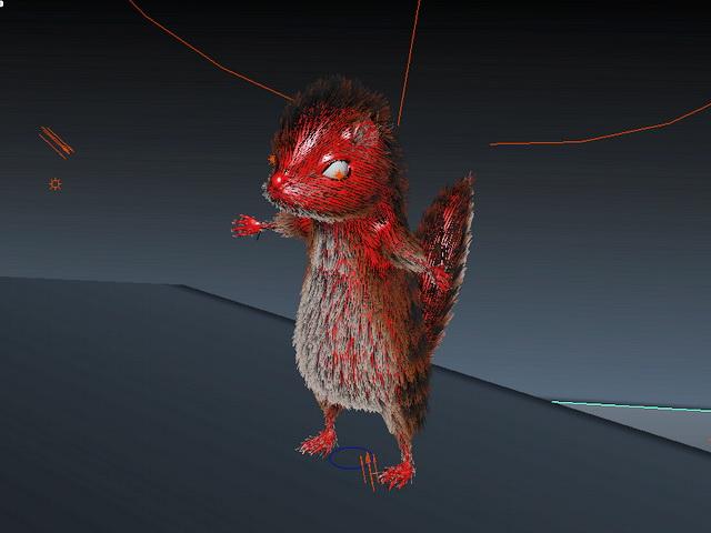 Fox Squirrel 3d rendering