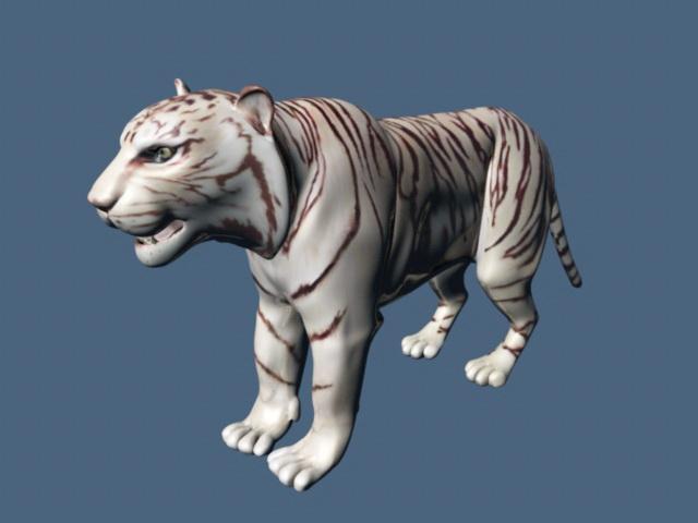 White Tiger Rigging 3d model