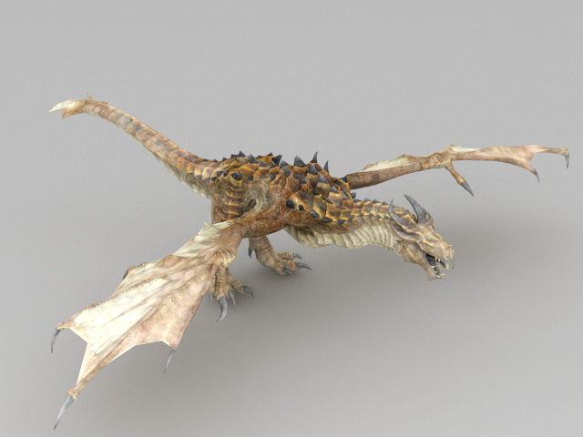 Bronze Dragon 3d model