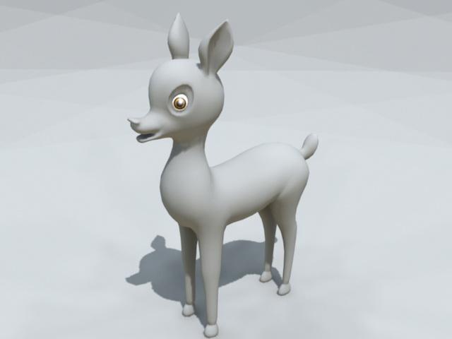 Cute Baby Deer 3d model