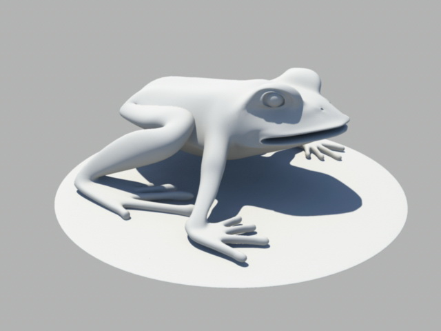 Animated Frog Jumping 3d model