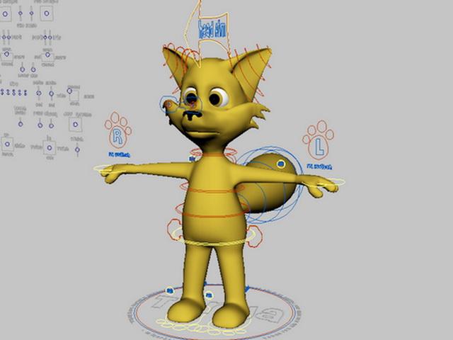 Cute Cartoon Fox Rigging 3d model
