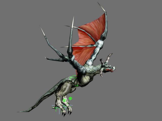 Dragon Flying Animation 3d model