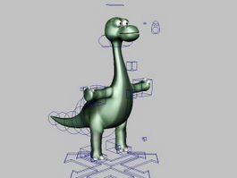Rigged Cartoon Dinosaur 3d model