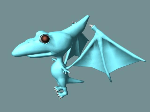 Cute Pterosaur Rig 3d model
