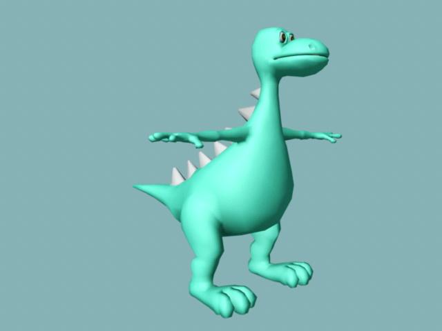 Cute Baby Stegosaurus Rig 3d model