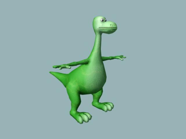 Cute Brontosaurus Rig 3d model