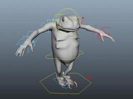 Anthropomorphic Frog Rig 3d model