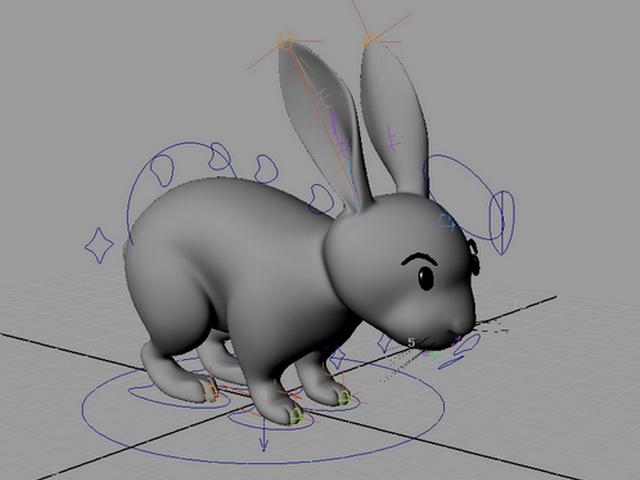 Rabbit Rig 3d model
