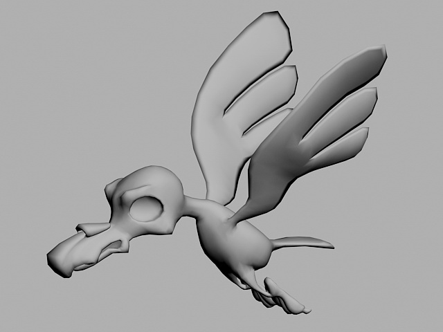 Cartoon Bird Animation 3d model