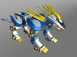 Mechanical Beast Art 3d model