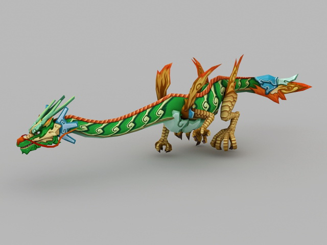 Anime Chinese Dragon 3d model