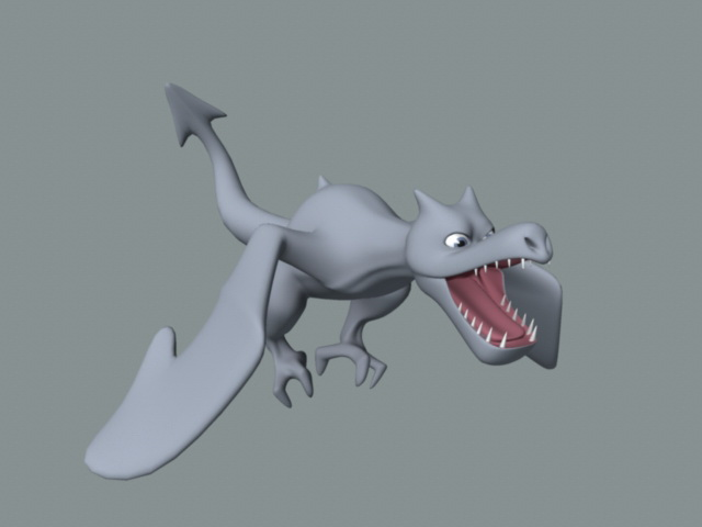 Small Dragon Cartoon 3d model
